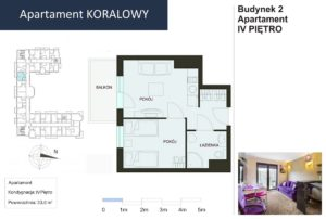 Rzut apartament Koralowy